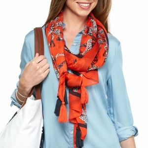 Crown & Ivy Giraffe Medallion Scarf